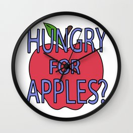 hungry for apples Wall Clock