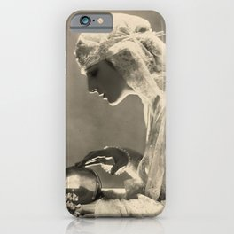 Beauty and the Crystal Ball black and white photograph iPhone Case