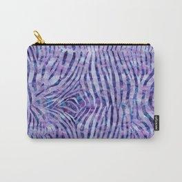 Purple Zebra Print Carry-All Pouch