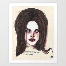 I was divine  Art Print