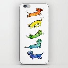 Watercolor Dachshunds iPhone Skin