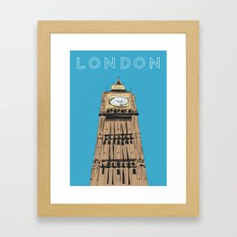 London Big Ben Travel Poster Framed Art Print