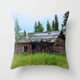 Alaskan Frontier Cabin Throw Pillow
