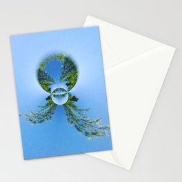 blue green planet bug Stationery Cards