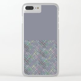 Gray combined pattern. Clear iPhone Case