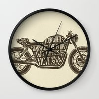 Two wheels move the soul Wall Clock