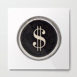 Vintage Dollar Sign Metal Print