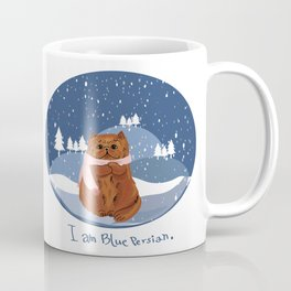 I am blue Persian. Coffee Mug