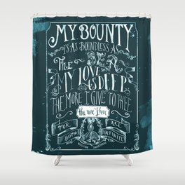 Love Quote Shower Curtain