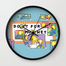 Do it for money - simpsons rethink Wall Clock