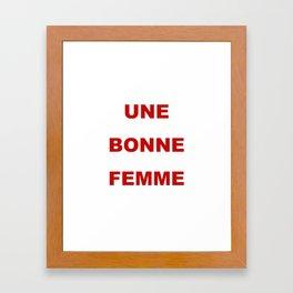 be: Framed Art Print
