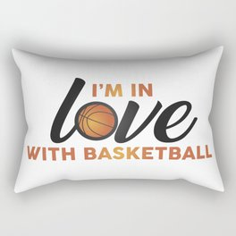I'm in LOVE with Basketball Rectangular Pillow