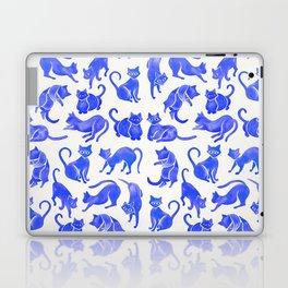 Cat Positions – Blue Palette Laptop & iPad Skin