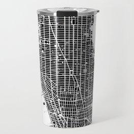 New York city map black and white Travel Mug