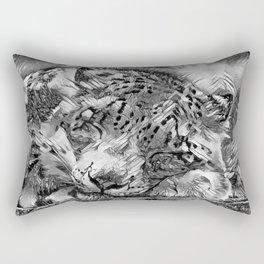 AnimalArtBW_Leopard_20170605_by_JAMColorsSpecial Rectangular Pillow