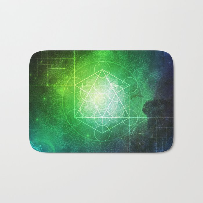 Abstract Deep Space Portal Blue-Green Bath Mat