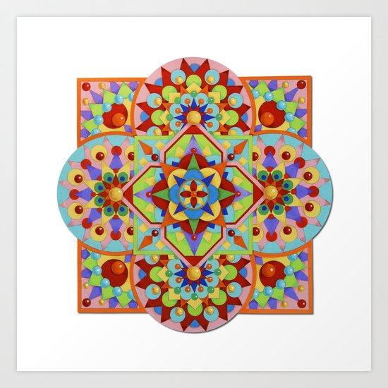 Chartres Mandala Art Print