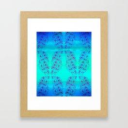 Habiscus Pattern Framed Art Print