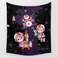drums Wall Tapestries featuring Space Rock by chobopop