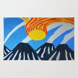 Fire In The Sky Rug