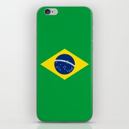 Brazil Flag Graphic Design iPhone Skin