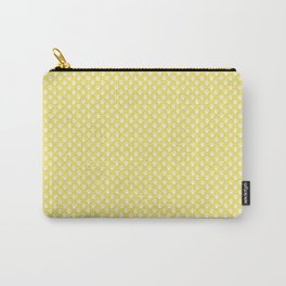 Tiny Paw Prints Lemon Yellow Pattern Carry-All Pouch