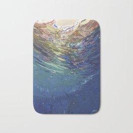 Emerging from a deep dive Bath Mat