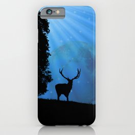 Moon & Deer - JUSTART © iPhone Case