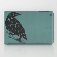 literary iPad Cases featuring Quoth the raven by Literary Mint