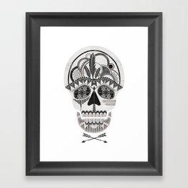 AZTEC SKULL B/W  Framed Art Print