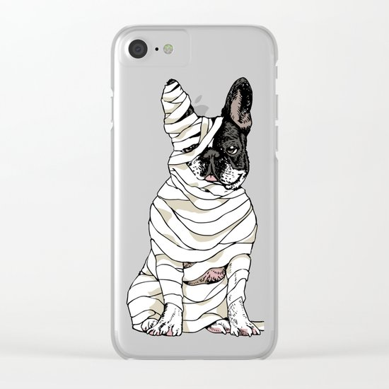 Mummy French Bulldog Clear iPhone Case