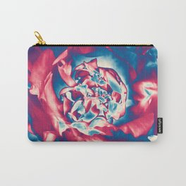 Fantasy flower garden. Color explosion. Abstract blooming blue and red summer peony flower. Lovely glamorous moody artistic floral botanical design. Beauty of nature. Carry-All Pouch