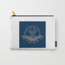 Plant Based Vegan Elephant - Funny Veganism Quote Gift Carry-All Pouch