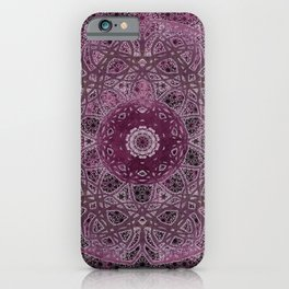 Vintage Merlot Lace Mandala iPhone Case