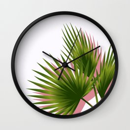 Minimal - Palm Tree leafs series - II.- Wall Clock