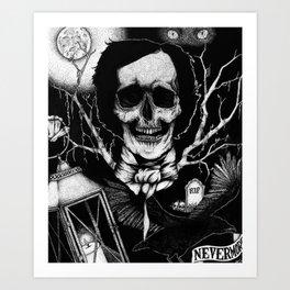 Edgar Allan Poe Nevermore Art Print