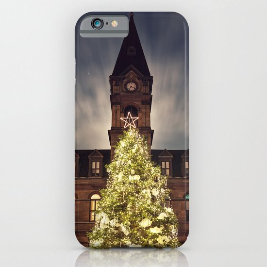 Christmas Tree at City Hall iPhone & iPod Case