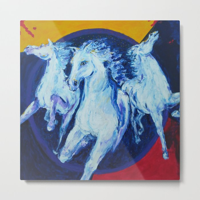 My Dream: Three Horses from the Stars Metal Print