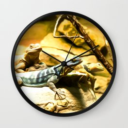 Lezard Art One Wall Clock