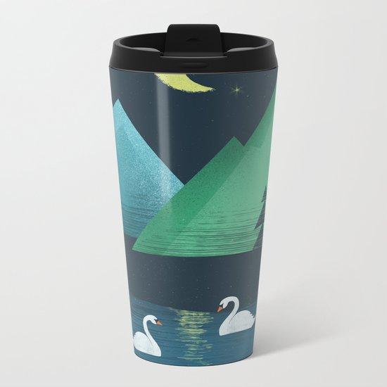 Moonlight Swim Metal Travel Mug