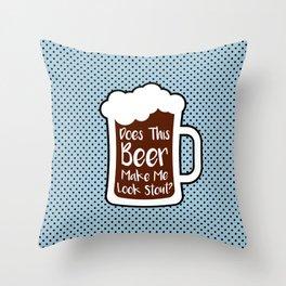 Beer Stout Throw Pillow