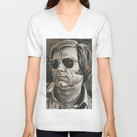 phil jones V-neck T-shirts featuring Jones by Buddy Owens Paintings
