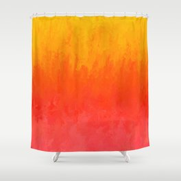 Coral, Guava Pink Abstract Gradient Shower Curtain