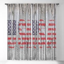 USA Barn Wall American Flag Print Blackout Curtain