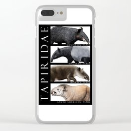 Tapirs of the World Clear iPhone Case
