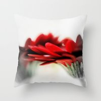 moulin rouge Throw Pillows featuring Rouge  by Norie