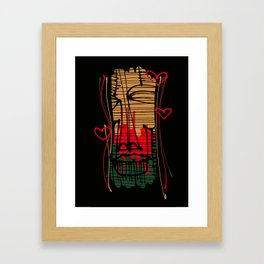 Mask with hearts Framed Art Print