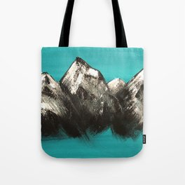 Turquoise Mountains by Noelle's Art Loft Tote Bag