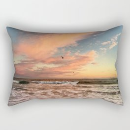 Cotton Candy Sunset Rectangular Pillow
