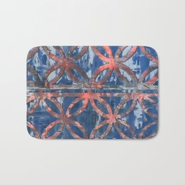 Abstract Blue Faded Pattearn Bath Mat